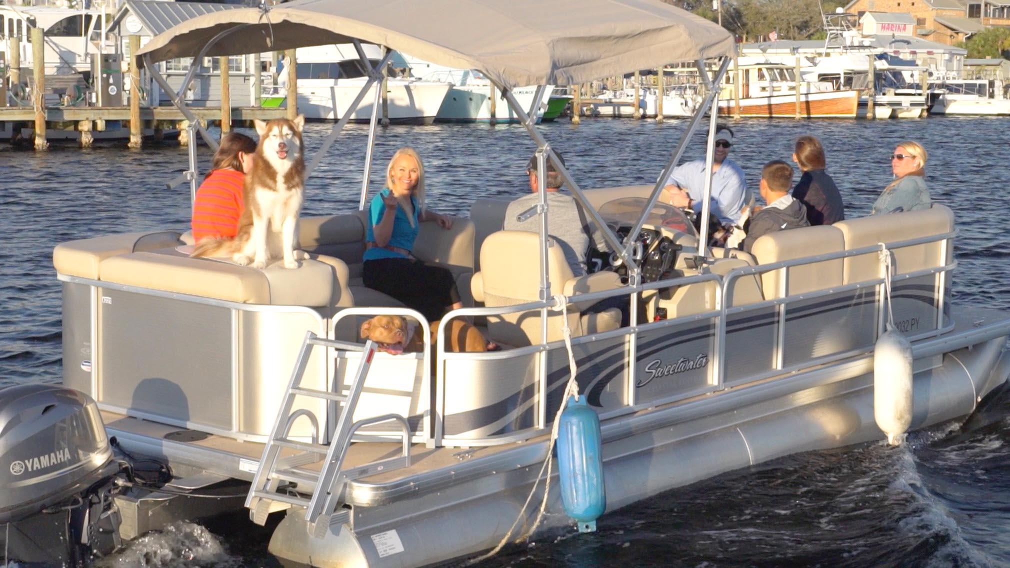 Slide-On-a-boat